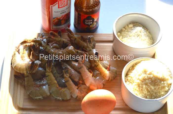 ingrédients crevettes panées au panko