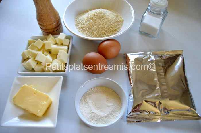 ingrédients croquettes-de-pommes-de-terre-et-mozzarella