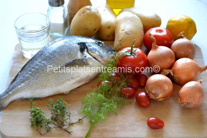 ingrédients dorade aux oignons grillée à la plancha