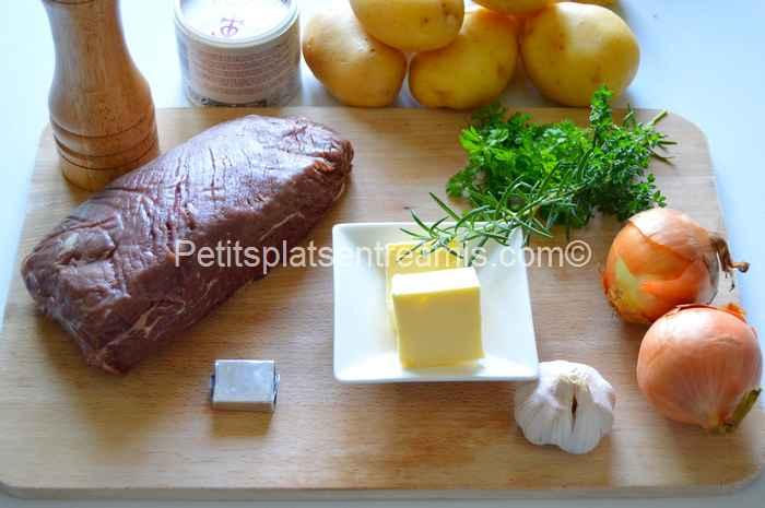 ingrédients pour filet de rumsteak boulangère