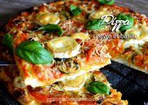 Pizza au chèvre et basilic