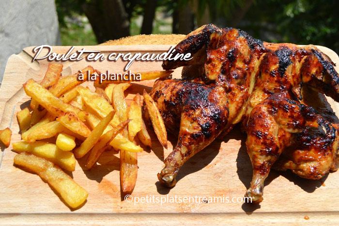 Poulet en crapaudine la plancha petits plats entre amis - Cuisiner un poulet entier ...