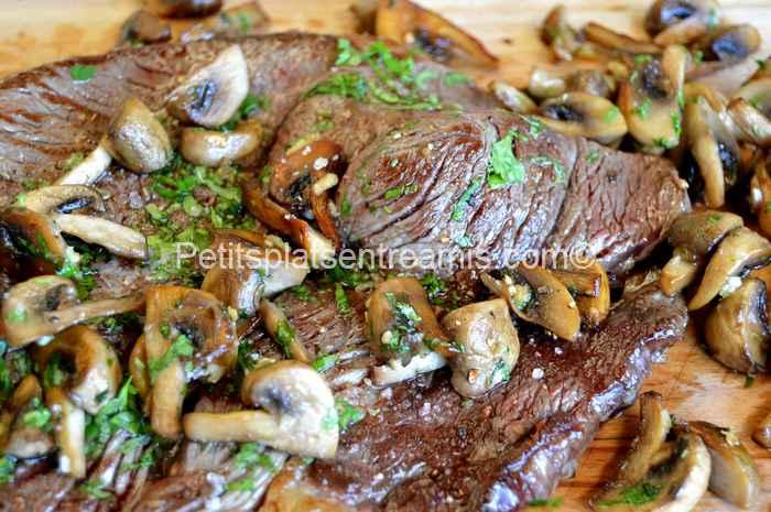 recette basse côte de boeuf aux champignons
