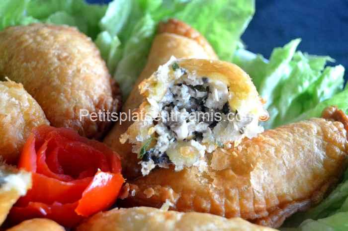 bouchée de rissoles au poulet
