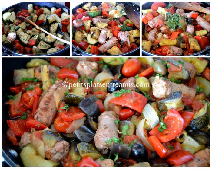 cuisson ragoût de saucisses à la provençale