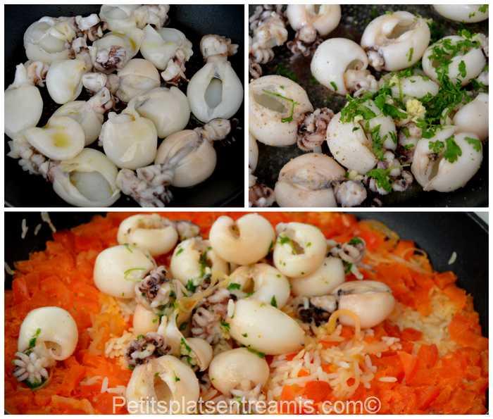 cuisson riz pilaf aux tomates et supions