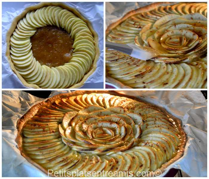 cuisson tarte aux pommes grand-mère