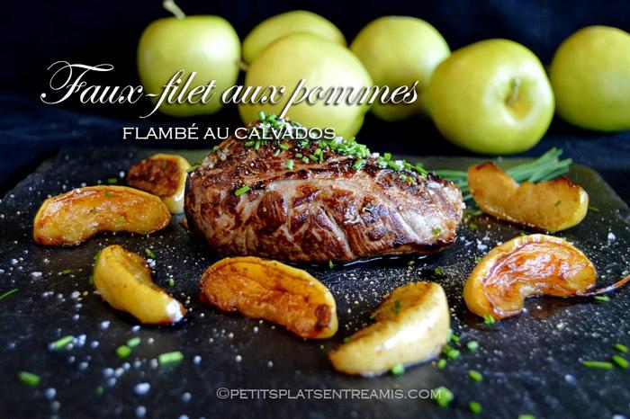 faux-filet-aux-pommes-flambé-au-calvados