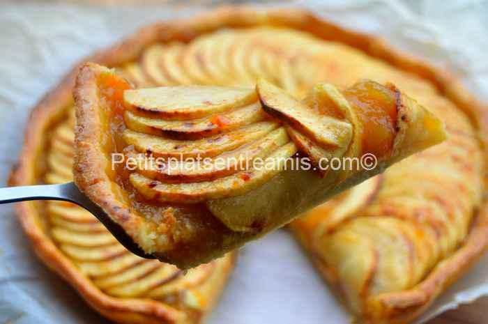 part de tarte aux pommes grand-mère