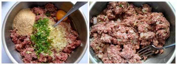 préparation boulettes de viande