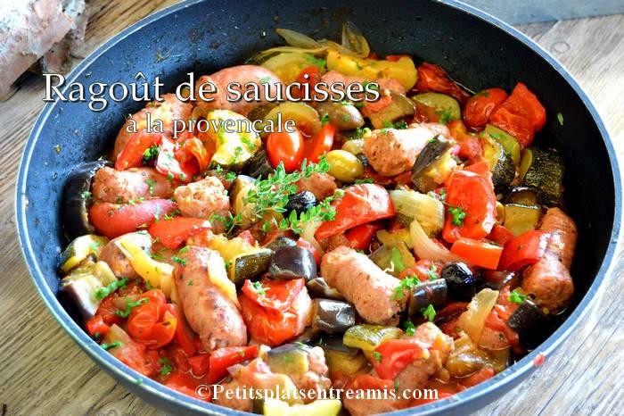 ragoût de saucisses à la provençale