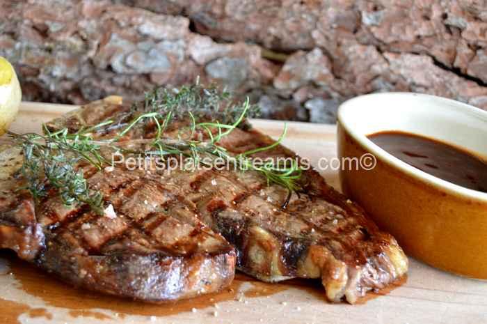 recette T-bone sauce barbecue
