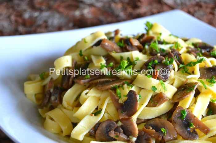 recette tagliatelles aux champignons