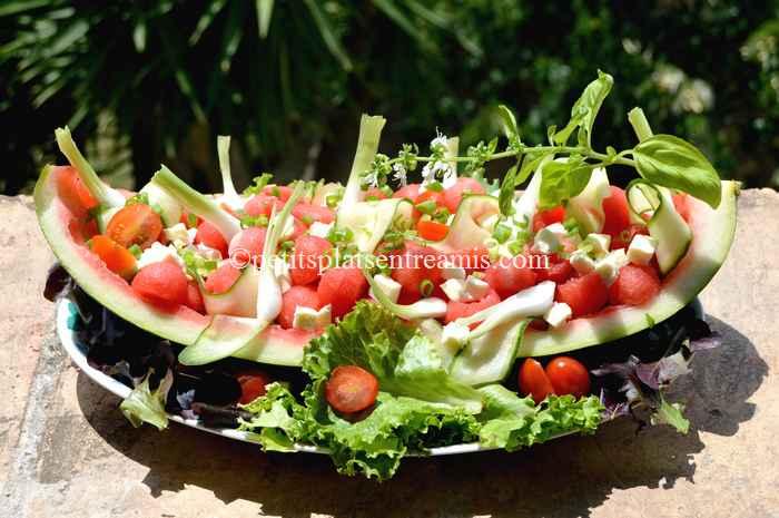 Salade de past que et autres fra cheurs petits plats entre amis - Salade de pasteque ...