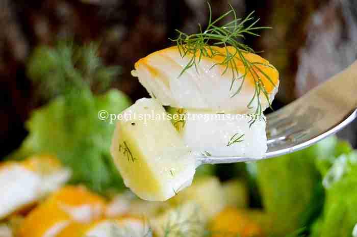 bouchée de salade-de-pommes-de-terre-au-haddock