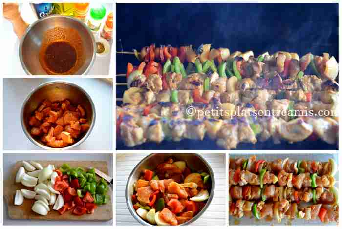 cuisson brochettes de dinde
