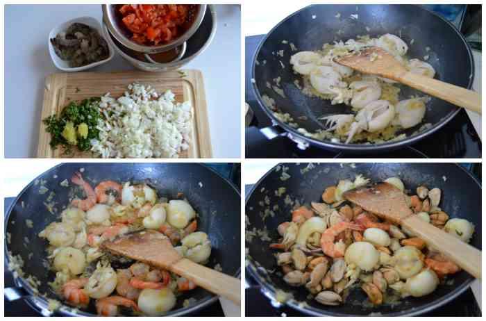 cuisson fruits de mer pour pâtes