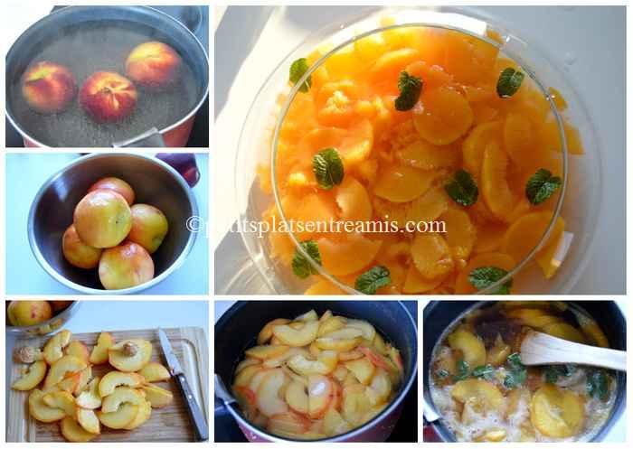 cuisson soupe de pêches à la menthe