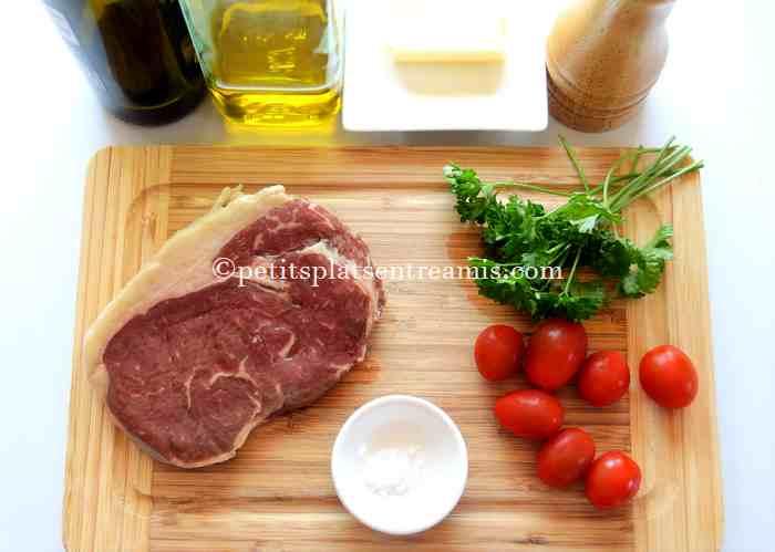 ingrédients pour Noix-d'entrecôte-au-vinaigre-balsamique