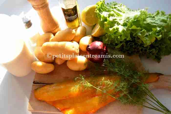 ingrédients salade-de-pommes-de-terre-au-haddock