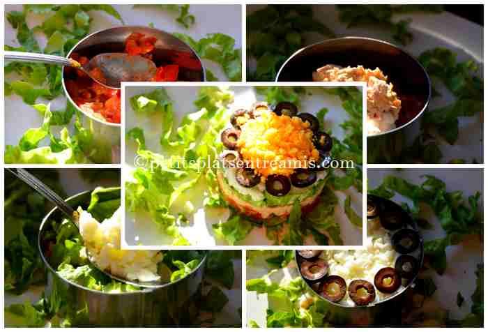montage salade de thon