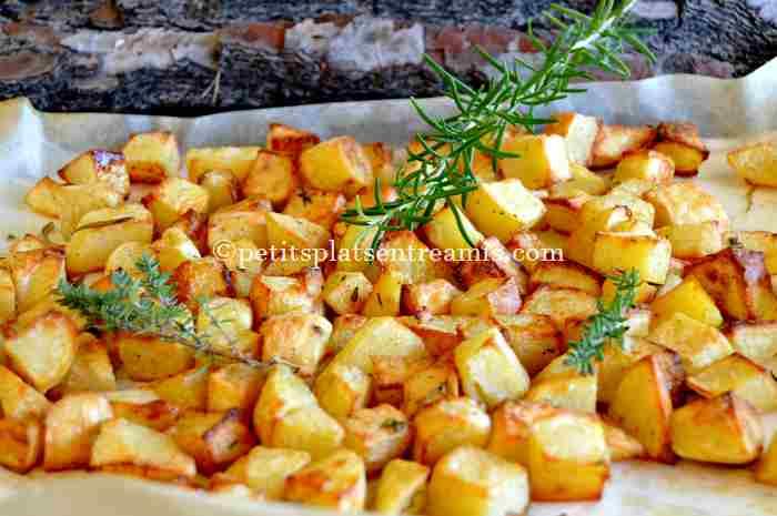 pommes de terre frites au four recette