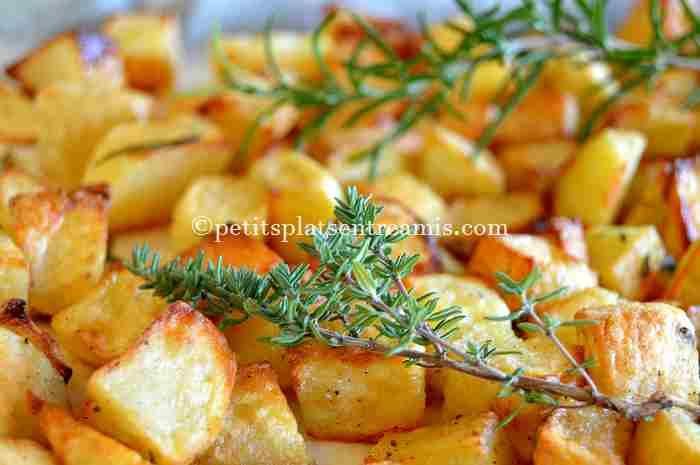 recette pommes de terre frites au four