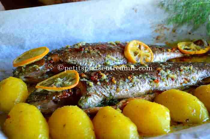 recette truite-saumonée-au-beurre-d'ail-et-aneth