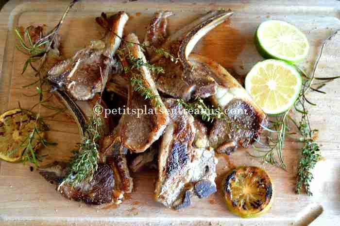 côtelettes-d'agneau-à-la-plancha recette