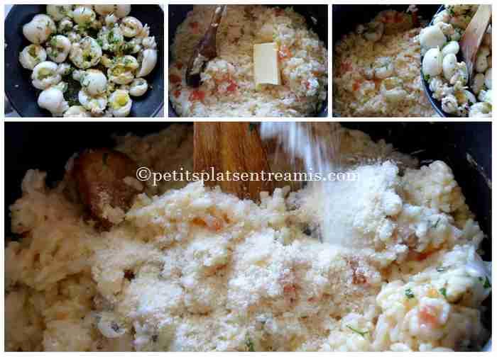 cuisson du risotto aux seiches