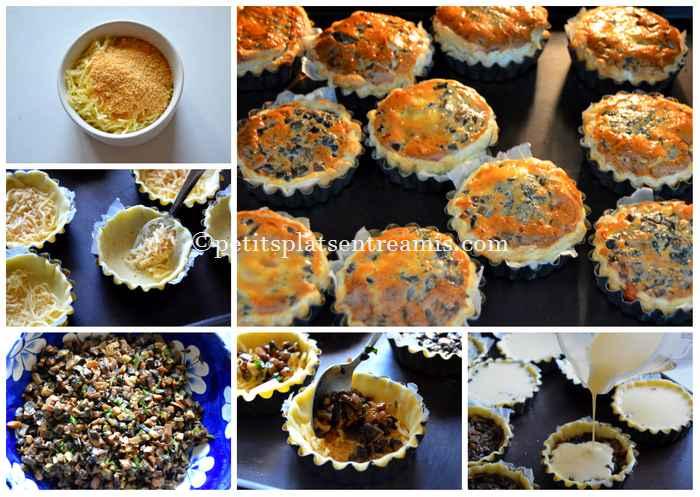 cuisson  petites tartelettes aux champignons