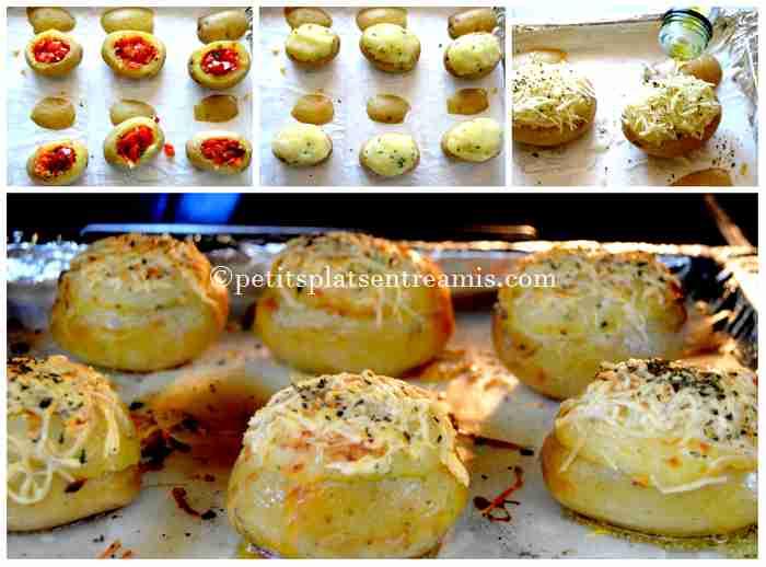 cuisson pommes de terre farcies aux poivrons