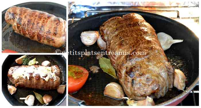 cuisson rôti de boeuf à l'ail