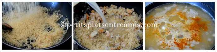 cuisson riz pilaf aux fruits de mer
