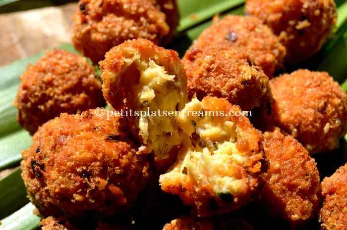 dégustation de boulettes-poulet-fromage