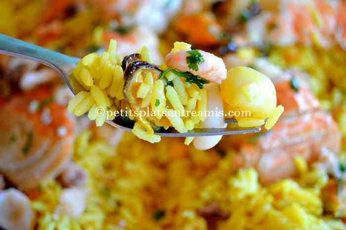 dégustation de riz-pilaf-aux-fruits-de-mer