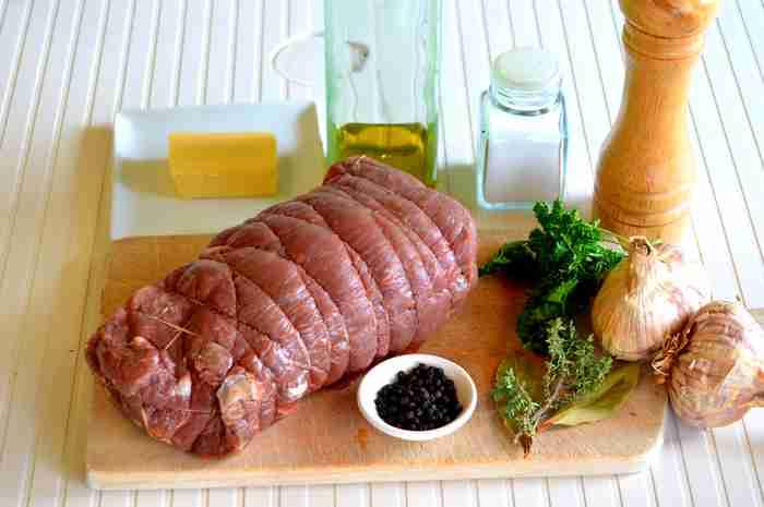 ingrédients pour rôti-de-boeuf-à-l'ail