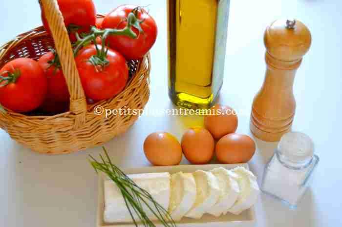 ingrédients pour tomates-farcies-au-chèvre