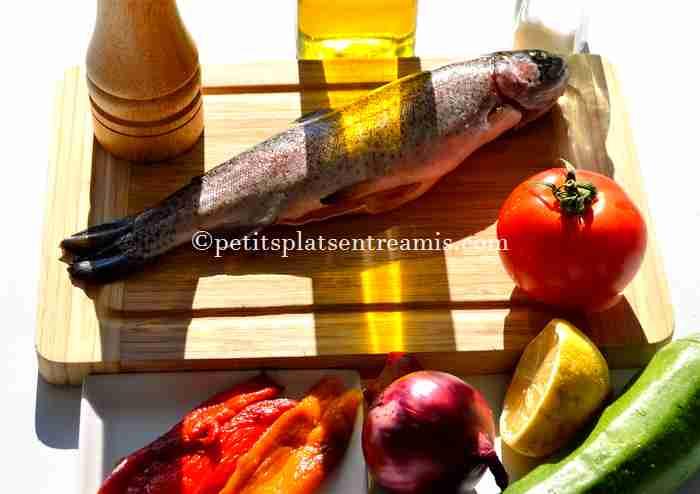 ingrédients truite-saumonée-et-ses-petits-légumes