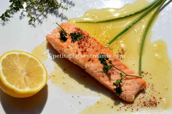 pavés de saumon au beurre blanc recette