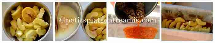 pommes caramélisées pour gâteau