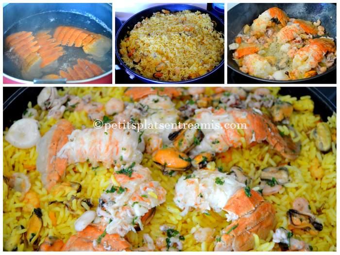 riz pilaf aux fruits de mer et cigales