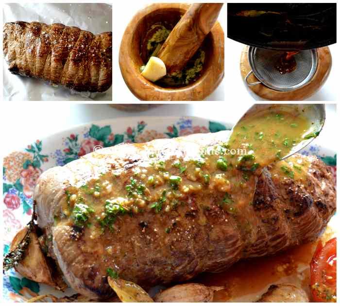 sauce pour rôti de boeuf à l'ail