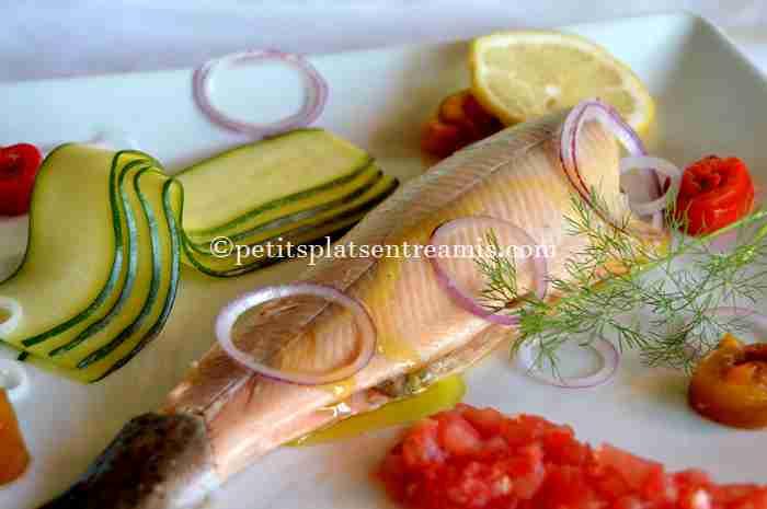 truite-saumonée-et-ses-petits-légumes recette