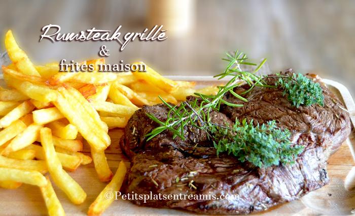 Rumsteak-grillé-et-frites-maison