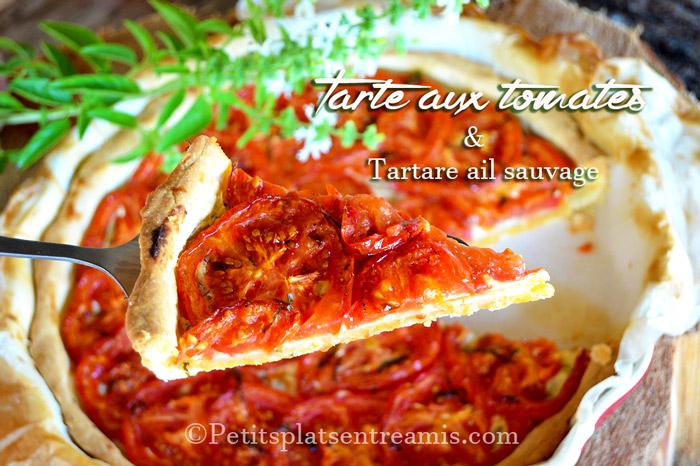 tarte-aux-tomates-et-tartare-a-lail-sauvage