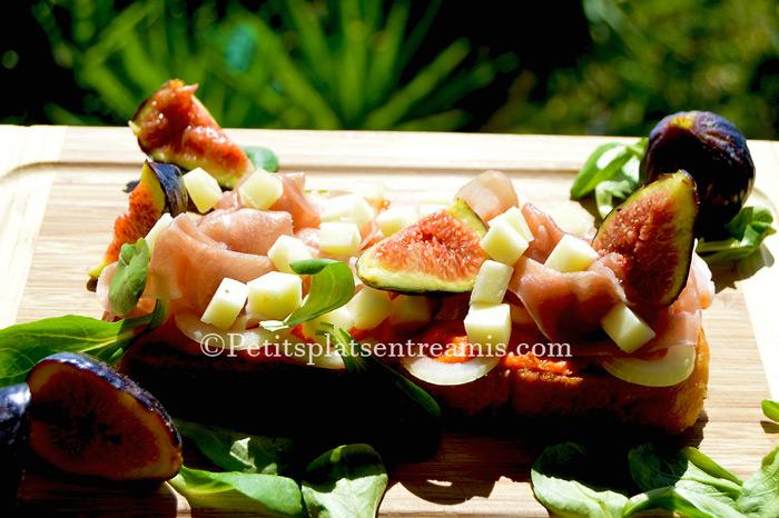 Tartine-au-jambon-de-pays-et-figues-recette
