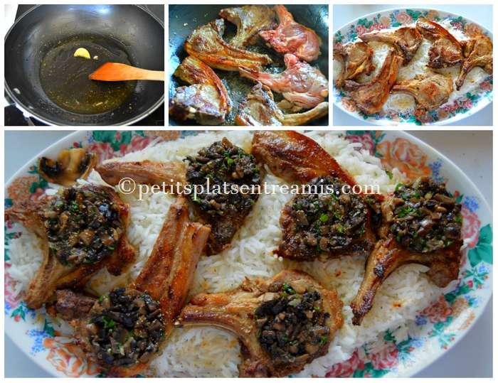 cuisson-cotes-dagneau-aux-champignons
