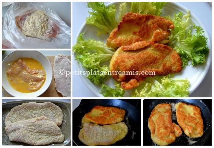 cuisson escalope de dinde panée