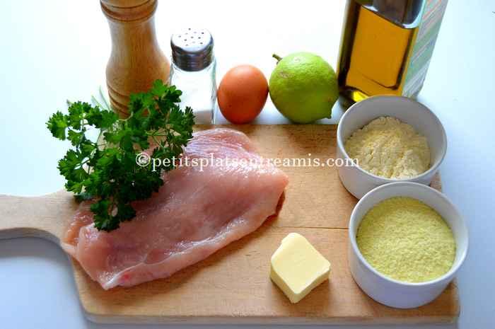 ingrédients escalope de dinde aux flocons de pommes de terre